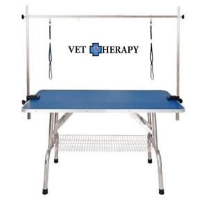 """NEW* VET THERAPY GROOMING TABLE 107713 233339069 DELUXE 2 LEASH PORTABLE COLLAPSIBLE 47"""" X 24"""""""