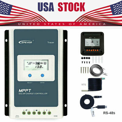 EPEVER MPPT 10/20/30/40A Solar Charge Controller 12V/24V Regulator or MT50/WIFI