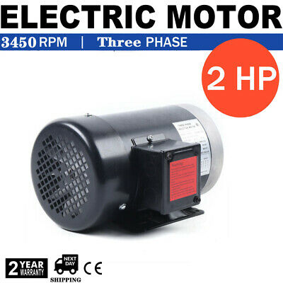 2 Hp 3 Phase 3450rpm Electric Motor Compressor Duty 56c Frame 58 Shaft Tefc