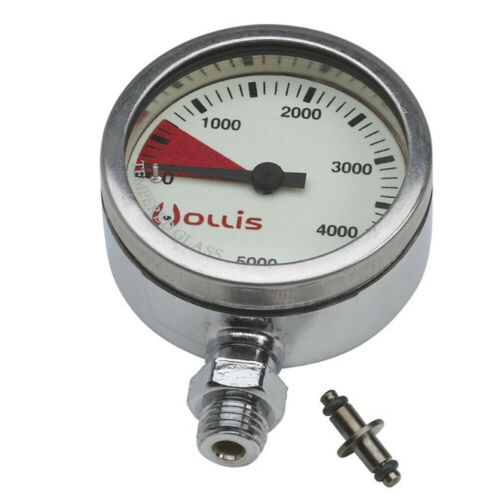 New Hollis Heavy Duty Brass SPG Submersible Pressure Gauge w