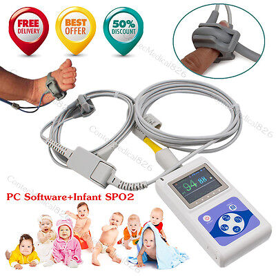 Ceneonatal Infant Pediatric Spo2 Monitor Pulse Oximeter 24 Hours Record Alarm