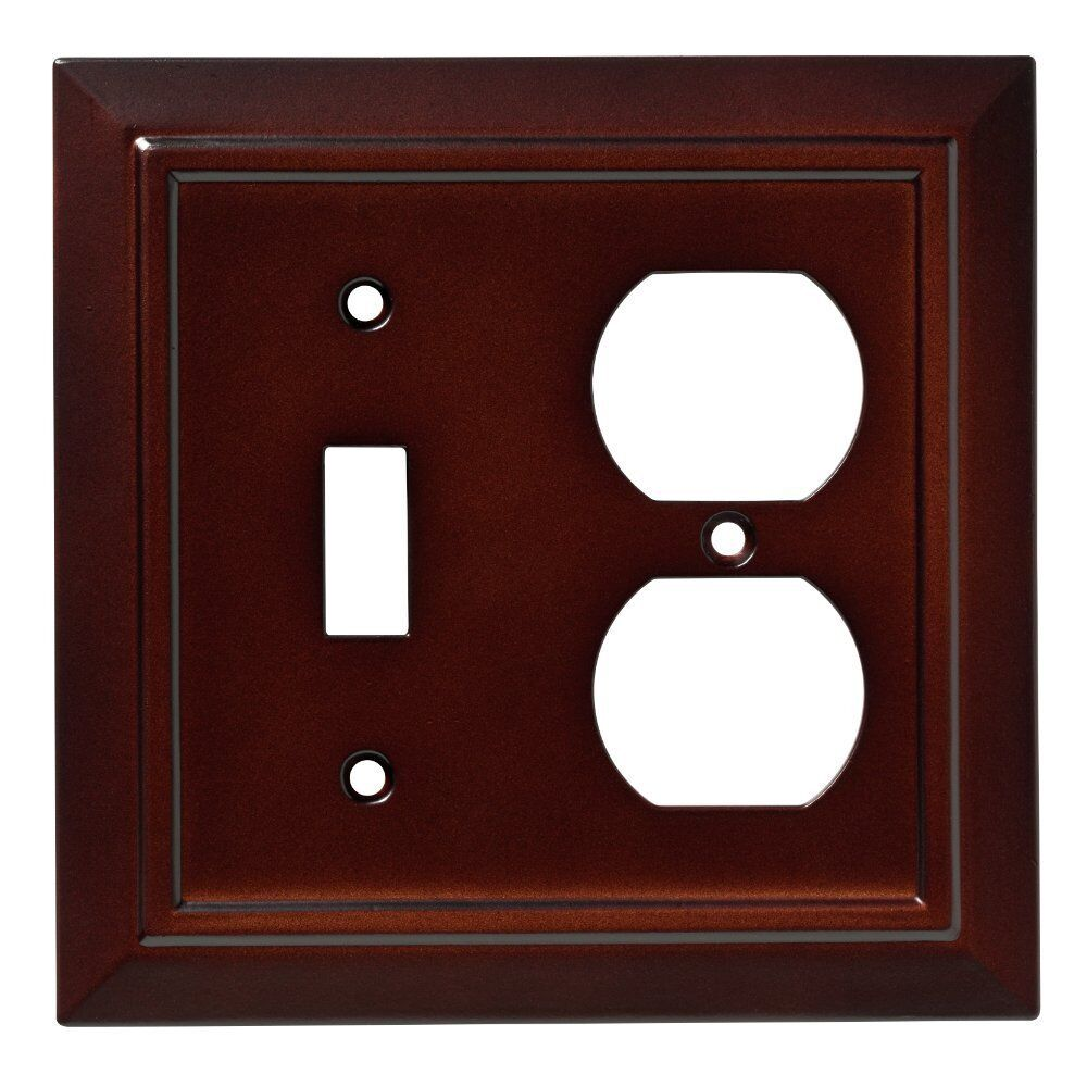 Switch Duplex Wall Plate Architectural Franklin Brass W35245
