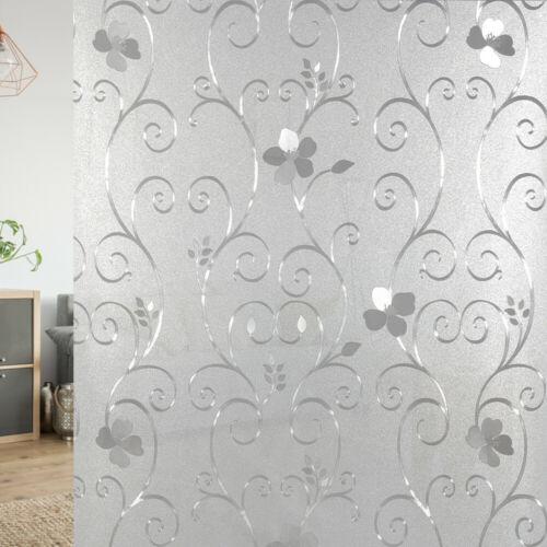 Fensterfolie Dekorfolie statisch Sichtschutzfolie Milchglasfolie Folie 200x90 cm