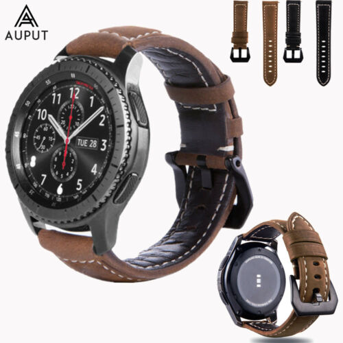 22MM Leder Armband Uhrenarmbänder Strap Für Samsung Gear S3/Galaxy Watch 46mm