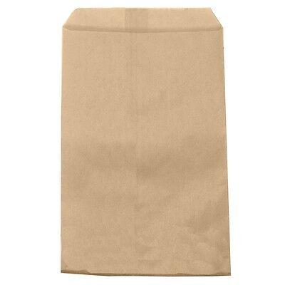 100 Brown Kraft Gift Bags Merchandise Bags Paper Bags 4x 6