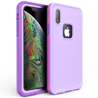 Love Screen - For Waterproof iphone Xr Xs Max Built-in Screen Protector Lovely Protection Case