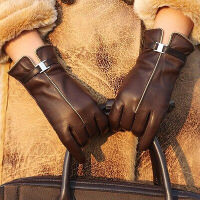 Dress Gloves Womens (Ladies Womens Genuine Nappa Leather Dress Classic Gloves 3 Color On Sale)