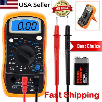 Digital Voltmeter Ammeter Ohmmeter Multimeter Volt AC DC Tester Meter Backlight
