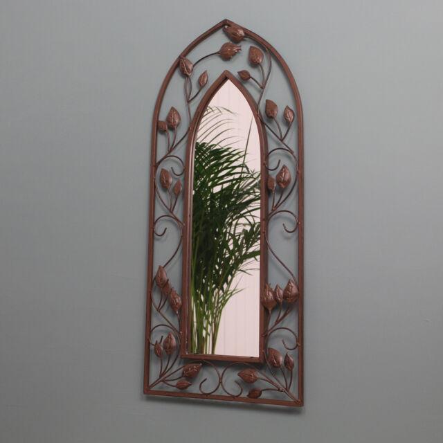 Gothic Arch Mirror Wall Art Sculpture Decoration for Home & Garden