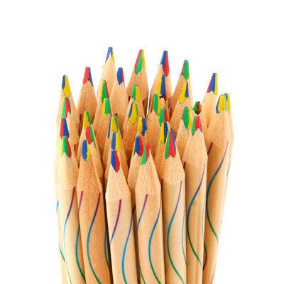 2/10pcs Rainbow Pencil Student School Stationery Supplies Kids Painting Pencils