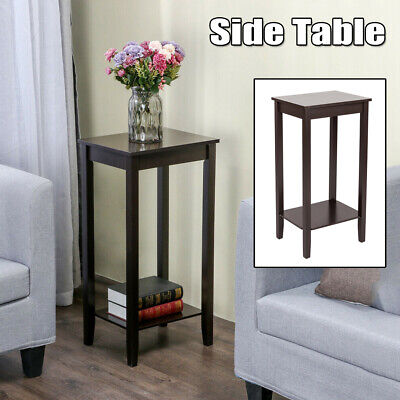 Tall End Table Coffee Stand Night Side Nightstand Home Accent Furniture Brown