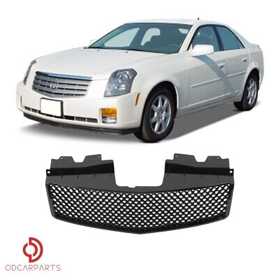 Fits 2003-2007 Cadillac CTS Front Upper Grille Grill Mesh Style Gloss Black