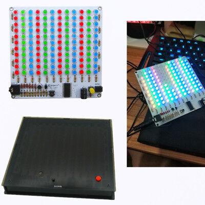 Audio Spectrum 12x11 Rgb Diy Kit Level Indicator Voice Spectrum Light With Case