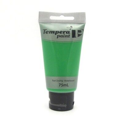 Tempera Paint Tube (Tempera Water Based Acrylic Paint Tube 75ml-Green Canvas Painting Primary Colour)