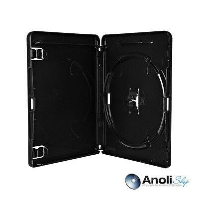 10  Amaray Blu Ray Hüllen 15 mm Schwarz 4K ULTRA HD für 1 Bluray,PS3 Disc Hülle