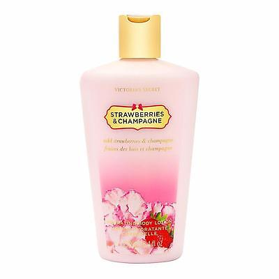 One VICTORIA'S SECRET STRAWBERRIES & CHAMPAGNE BODY LOTION LIMITED FULL SIZE NEW
