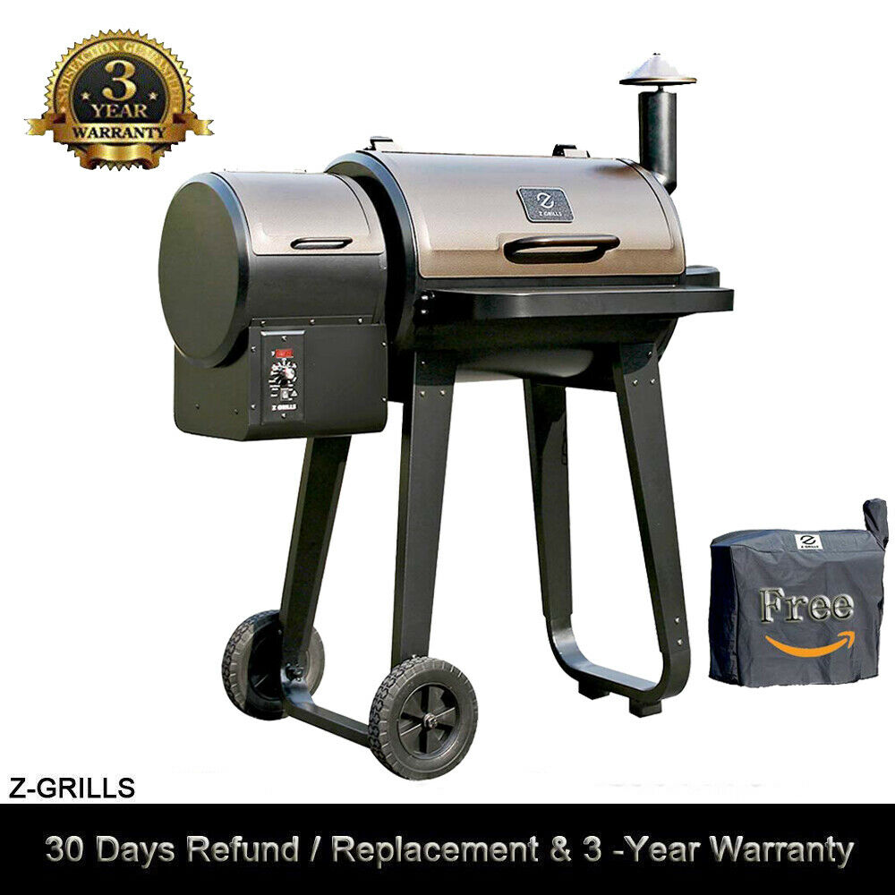 Z GRILLS Wood Pellet BBQ Grill and Smoker with Digital Contr