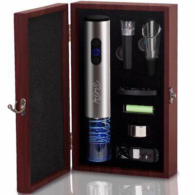 Premium Electric Wine Opener Set in Wooden Case- Wine Bottle Opener Extracts
