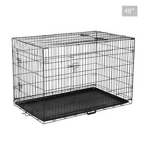 Metal Collapsible Dog Cage 48IN North Melbourne Melbourne City Preview