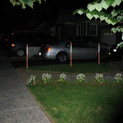 Orange Reflective Driveway Markers Snow Poles Easy Visibility at Night 25Pack, used for sale  Vista