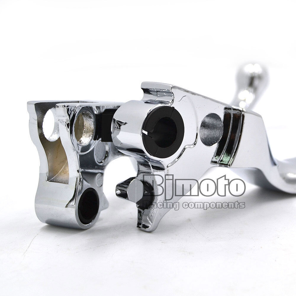 Motorcycle Chrome 2-Slot Brake Clutch Levers For Harley XL