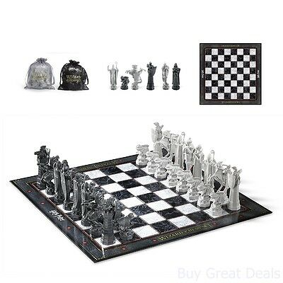 Harry Potter Wizard Chess Set 18.5x18.5 Inch Chess Board Up to 4 Inch Pieces - Chess Pieces Set Up