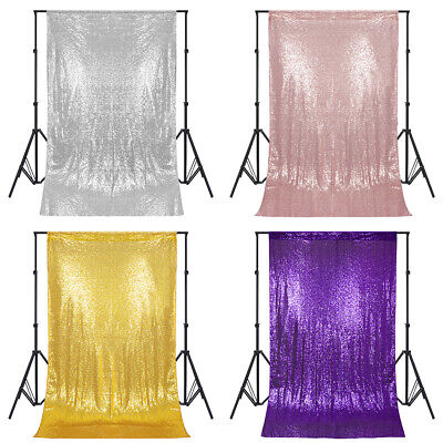 4ftx6ft Sequin Backdrop Curtain Wedding Party Photo Booth Stage Background Decor](Photo Booth Curtains)