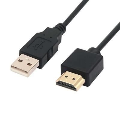 USB To HDMI Cable Male Charger Cable Splitter Adapter Wire For HDTV...