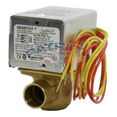 Honeywell V8043e1012 24v 34 N.c. Sweat Zone Valve With End Switch