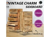 Chest of Drawers 45x35x106 cm Solid Mango Wood-247806