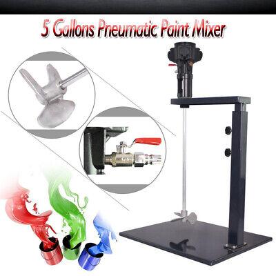 Pneumatic Paint Mixer Blender Stirrer Ink Mixing Machine Stirrer Blade 5 Gallons