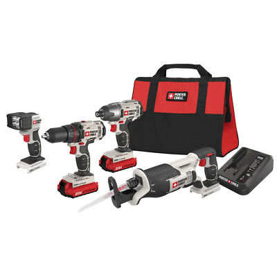 Porter-Cable PCCK615L4 20V MAX Cordless Lithium-Ion 4-Tool C