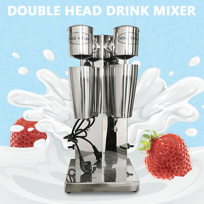 Electric Milk Shake Machine Commercial Double Head Stainless Drink Mixer 18000rm