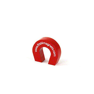 Pocket Size Red Alnico Horseshoe Magnet - 1.5kg Pull (25.4 x 28.5 x 8mm)