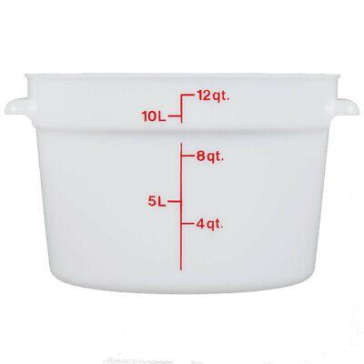 6pc Cambro Rfs12148 12 Qt Round White Food Storage Container