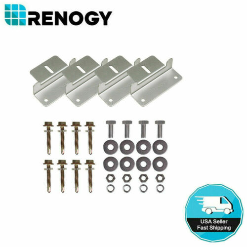 Renogy Solar Panel Mounting Z Brackets Set For Solar Panel Flat Roof Wall