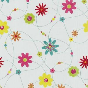 NEW P&S FLOWER PATTERN FLORAL MOTIF TEXTURED STRIPED WASHABLE WALLPAPER 05563-20