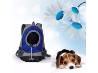 Portable Dog Front Carrier with Mesh Pup Pack/Head Out Design (size L)
