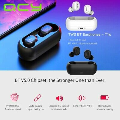 QCY T1C Youth Version Mini Dual Wireless Earphones BTV5.0 St