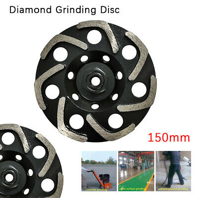 6 Diamond Grinding Wheel Cup L-segment Grinder Disc Concrete Cut Grinding M14