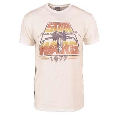 Mens Retro Star Wars X-Wing 1977 T-Shirt Vintage White NEW Rebels 1977 Mens Retro T-shirt