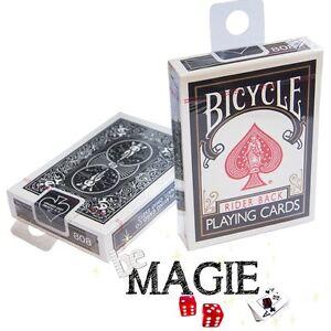 Jeu Bicycle Noir Black Back Poker Magie Cartes