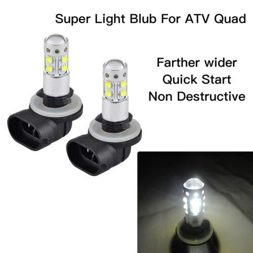 2PCS 100W LED Headlight Bulb for Polaris Sportsman Ranger 800 4011066, 4030048
