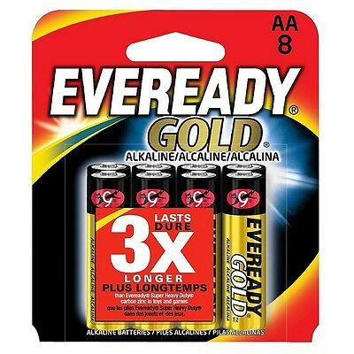 Eveready Gold General Purpose Alkaline AA Batteries 8 ea