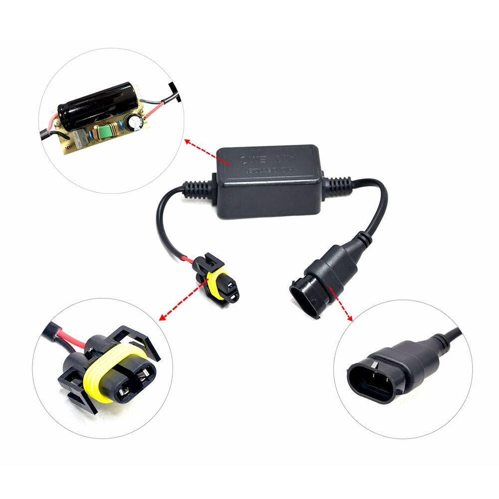 2x A10 Emc H11 Headlight Canbus Led Decoder Hid Anti Flicker Error Resistor Wiring Diagram Free