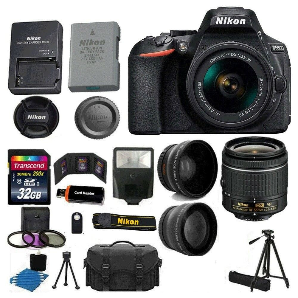 Nikon D5600 DSLR Camera w/ AF-P 18-55mm + 70-300mm SLD DG Le