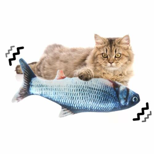 Electric Realistic Fish Cat Toys Pet Kicker Simulation Catnip Toys USB Charging Cat Supplies