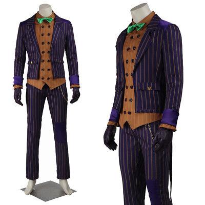 Batman Arkham Knight Joker Cosplay Costume Clown Costume Halloween Men Outfits