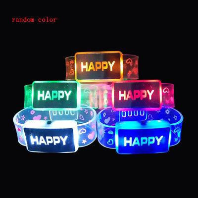Led Light Bracelet (LED Light Up Bracelet Sport Activated Glow Flash Bangle Unisex Color)