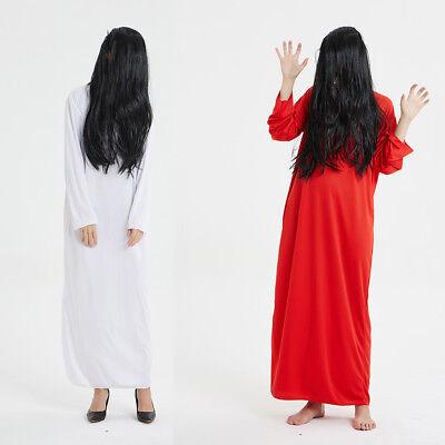 Women's Yamamura Sadako Ghost Dress Up Costume Cosplay Halloween Party - Sadako Costume Halloween